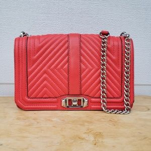 Rebecca Minkoff Geo Chevron Love Quilted Crossbody
